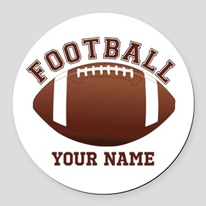 Personalized Name Footbal Round Car Magnet