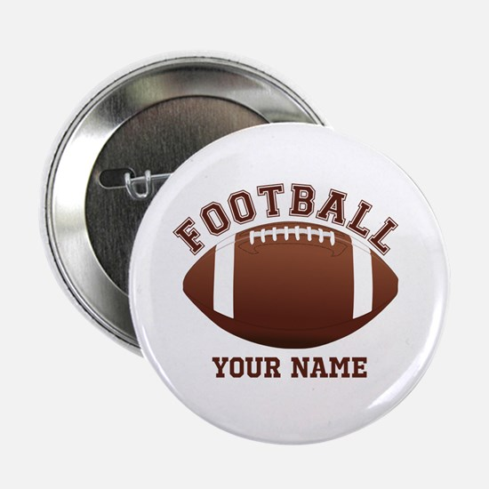 "Personalized Name Footbal 2.25"" Button"