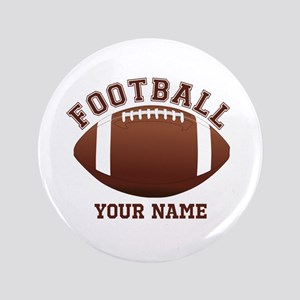 "Personalized Name Footbal 3.5"" Button"