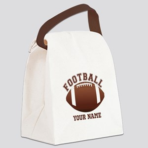 Personalized Name Footbal Canvas Lunch Bag