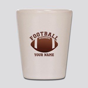 Personalized Name Footbal Shot Glass