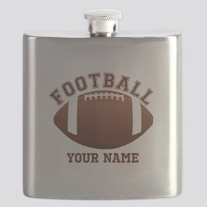 Personalized Name Footbal Flask