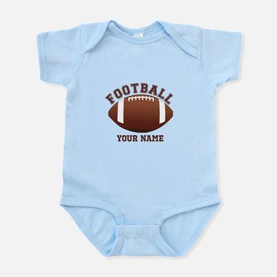 Personalized Name Footbal Infant Bodysuit