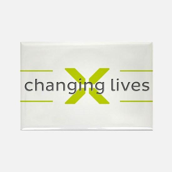 Changing Lives Rectangle Magnet