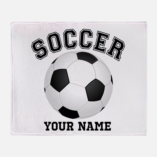 Personalized Name Soccer Throw Blanket