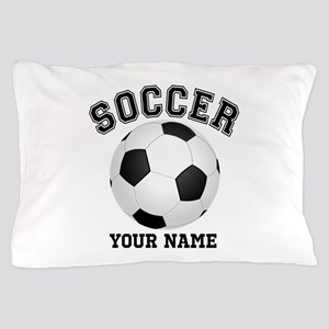 Personalized Name Soccer Pillow Case