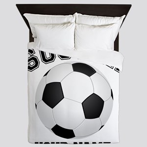 Personalized Name Soccer Queen Duvet