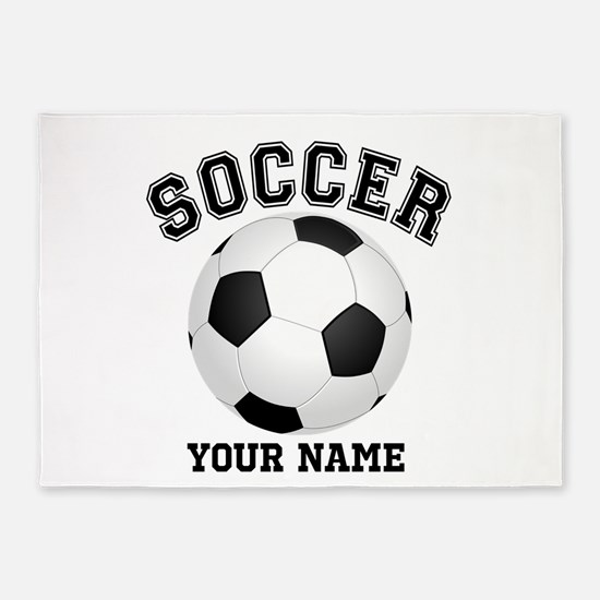 Personalized Name Soccer 5'x7'Area Rug