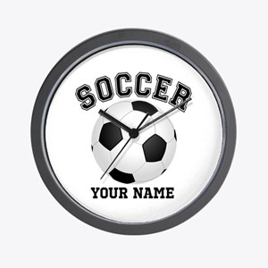 Personalized Name Soccer Wall Clock