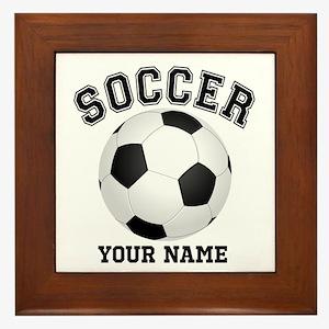 Personalized Name Soccer Framed Tile