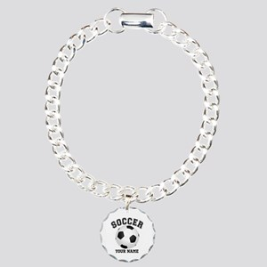 Personalized Name Soccer Charm Bracelet, One Charm