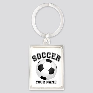 Personalized Name Soccer Portrait Keychain