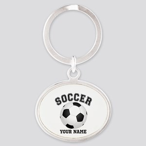 Personalized Name Soccer Oval Keychain