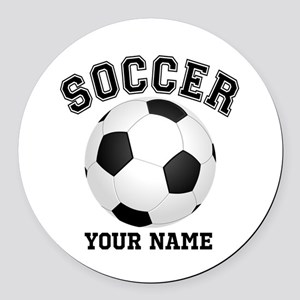 Personalized Name Soccer Round Car Magnet