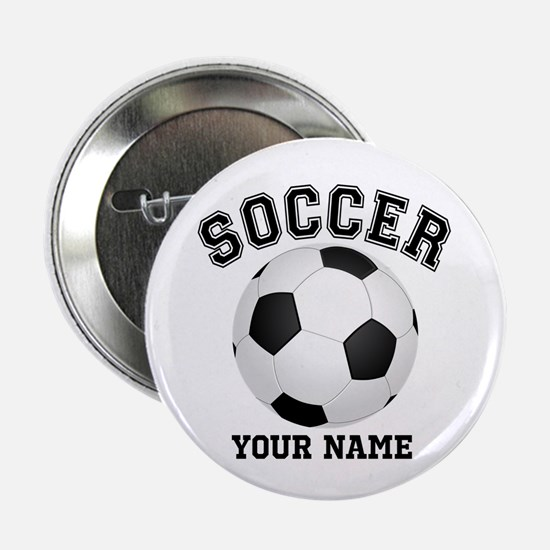 "Personalized Name Soccer 2.25"" Button"