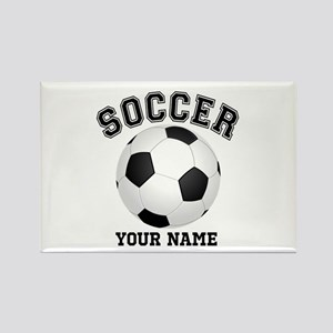 Personalized Name Soccer Rectangle Magnet