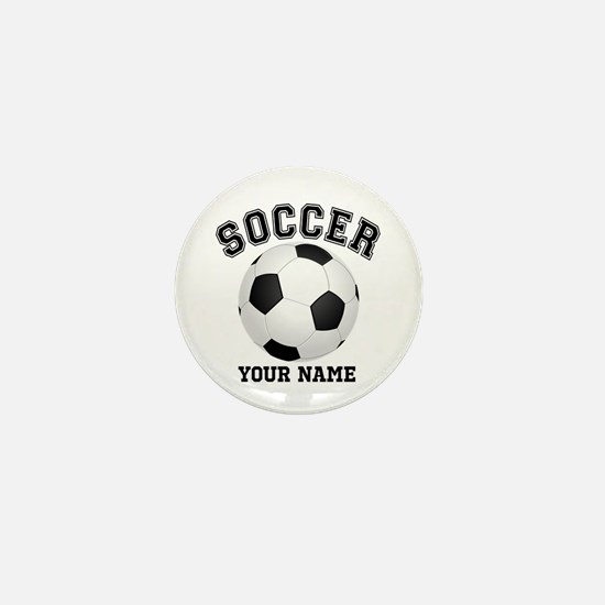 Personalized Name Soccer Mini Button
