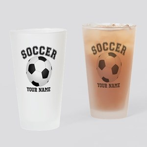 Personalized Name Soccer Drinking Glass