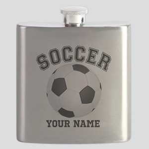 Personalized Name Soccer Flask