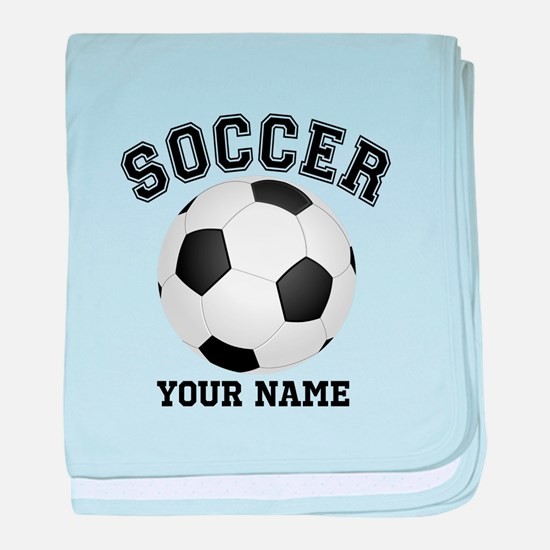 Personalized Name Soccer baby blanket