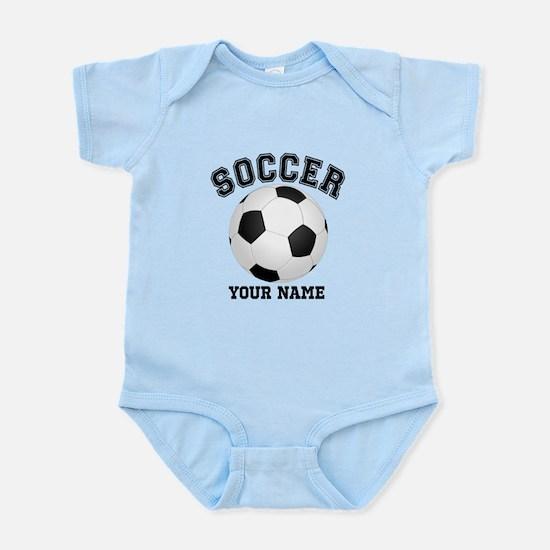 Personalized Name Soccer Infant Bodysuit