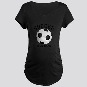 Personalized Name Soccer Maternity Dark T-Shirt