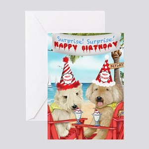 Wheaten Terriers Surprise Birthday Greeting Card