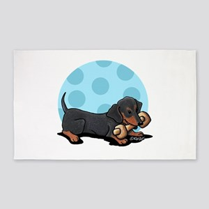 Doxie With Bone 3'x5' Area Rug