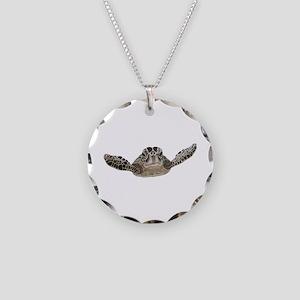 Sea turtle Necklace Circle Charm