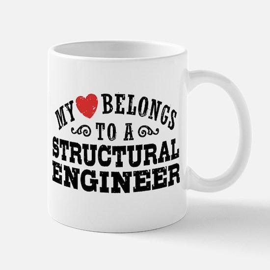 My Heart Belongs To A Structural Engineer Mug