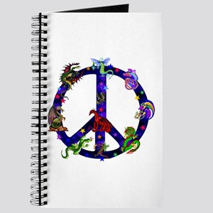 Dragons Peace Sign Journal