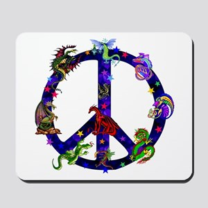 Dragons Peace Sign Mousepad