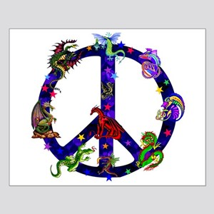 Dragons Peace Sign Small Poster