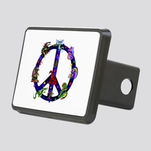 Dragons Peace Sign Rectangular Hitch Cover