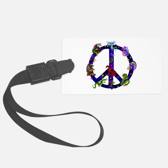 Dragons Peace Sign Luggage Tag