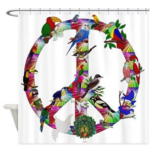 Peace Symbol Shower Curtains