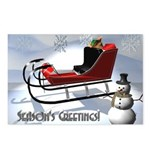 3D Snowman Postcards (Package of 8)