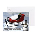 3D Snowman Greeting Cards (Pk of 10)