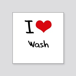 I love Wash Sticker