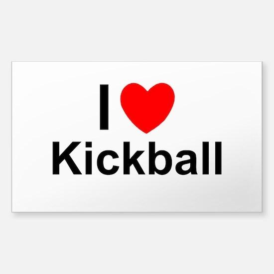 Kickball Sticker (Rectangle)