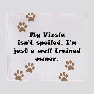 Well Trained Vizsla Owner Throw Blanket