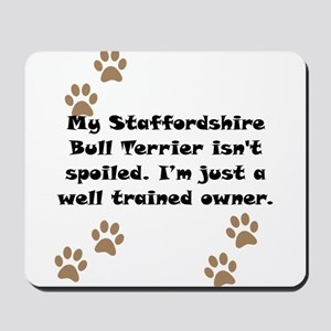 Well Trained Staffordshire Bull Terrier Owner Mous