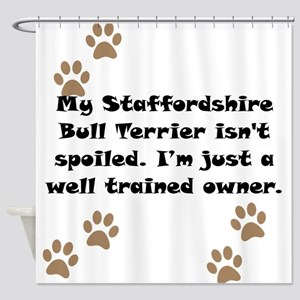 Well Trained Staffordshire Bull Terrier Owner Show