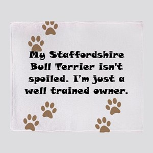 Well Trained Staffordshire Bull Terrier Owner Thro