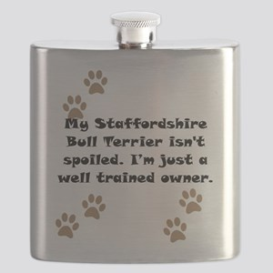 Well Trained Staffordshire Bull Terrier Owner Flas