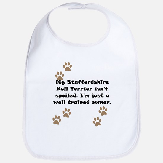 Well Trained Staffordshire Bull Terrier Owner Bib