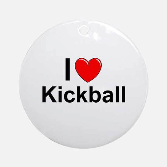 Kickball Round Ornament