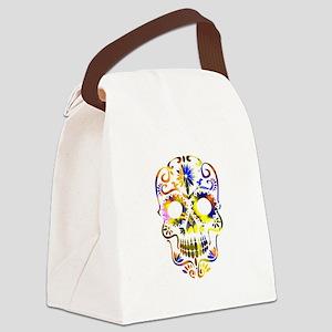 Sugar Skull - Colorful Canvas Lunch Bag
