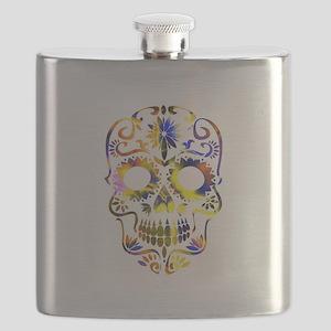 Sugar Skull - Colorful Flask