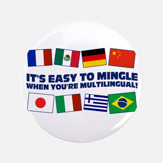 "Its Easy to Mingle 3.5"" Button"